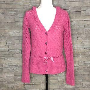Alexandra Bartlett pink cardigan
